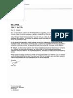 Response to Gillespie by Tony Joy, North Fla District, U.S. Postal Service, June 12, 2012