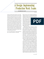 Beyond Design- Implementing Effective Production Work Teams