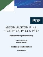 MiCOM Alstom P14x Ver44J Addendum GB