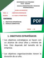 Tema 11 - Objetivos Estrategicos