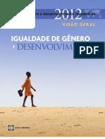 Igualdade de Gênero e Desenvolvimentoo - Relatório sobre Desenvolvimento Mundial 2012 - BANCO MUNDIAL