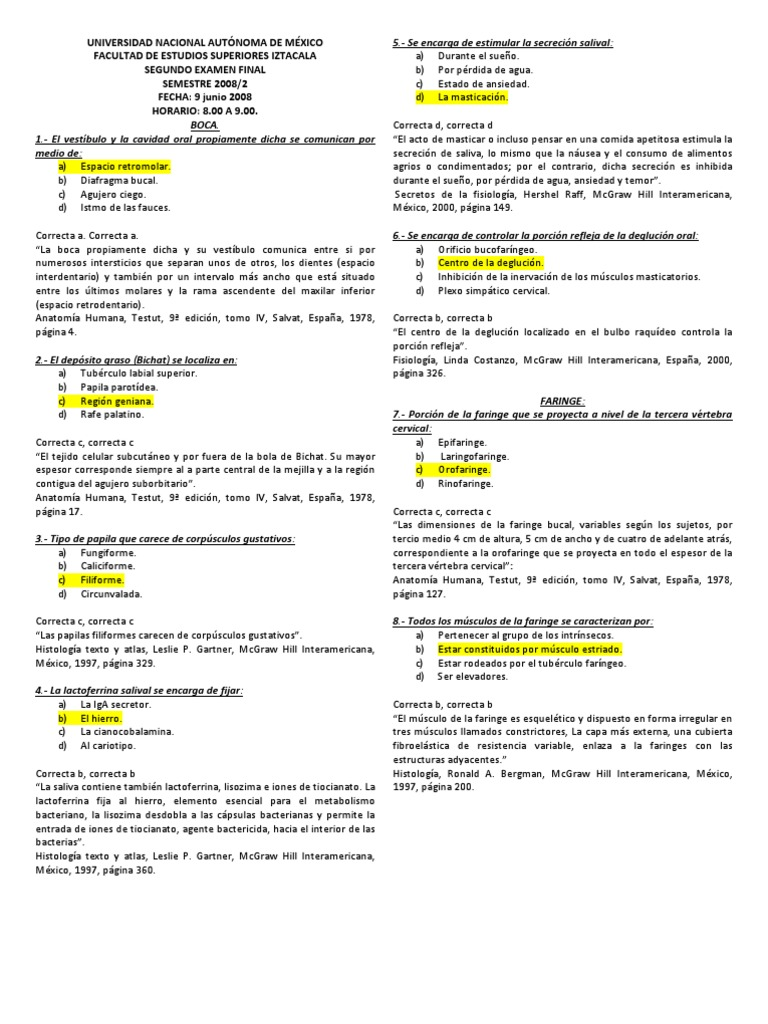 SEGUNDO EXAMEN FINAL SISTEMA DIGESTIVO 2008