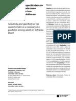 Sensibilidade e Especificidade Do Ind Conicidade e Dcv