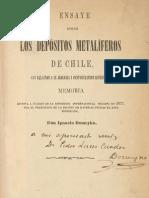 Domeyko-1876-Ensaye sobre los depósitos metalíferos de Chile