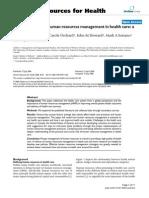 HR Planning in Health Care Organization.(MSR)