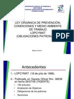 Lopcymat Obigaciones Patronales Presentacion