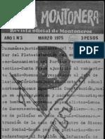 Revista Evita Montonera. Buenos Aires, Nº 3, año I, marzo, 1975