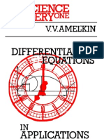 Differential Equations in Applications Amelkin Wc