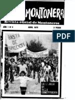 Revista Evita Montonera. Buenos Aires, Nº 4, año I, abril, 1975