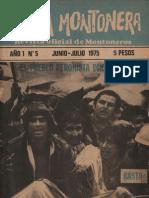 Revista Evita Montonera. Buenos Aires, Nº 5, año I, junio-julio, 1975