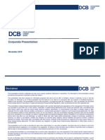 Corporate Presentation DCB