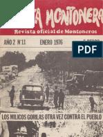 Revista Evita Montonera. Buenos Aires, Nº 11, enero, 1976