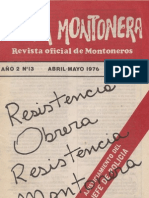 Revista Evita Montonera. Buenos Aires, Nº 13, abril-mayo, 1976