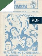 Revista Evita Montonera. Buenos Aires, Nº 16, Marzo, 1977
