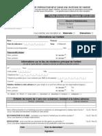 Dossier d'inscription scolaire 2012/2013