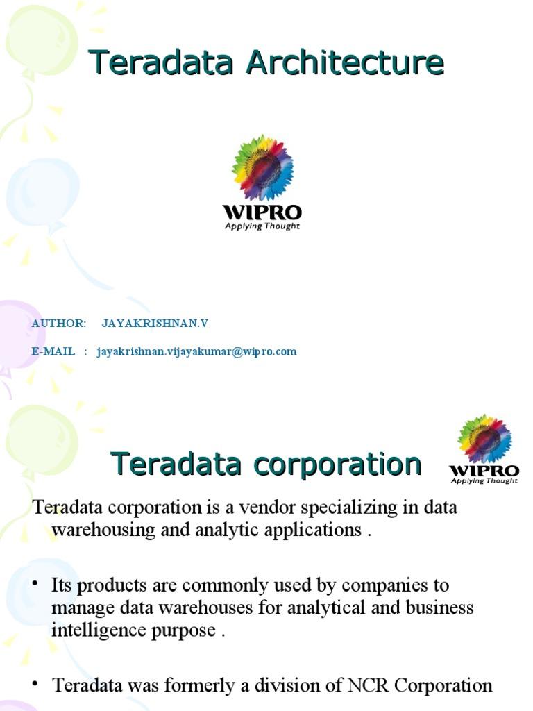 Teradata Architecture Databases Data Warehouse