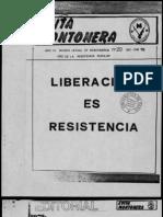 Revista Evita Montonera. Buenos Aires, Nº 20, Diciembre-enero, 1978