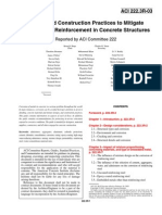 222.3R-03 Design and Construction Practices to Mitigate Corrosion of Reinforcement in Concrete Structures