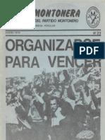 Revista Evita Montonera. Buenos Aires, Nª 23, Mayo, 1979