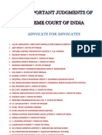 Fifty Important Judgments of Supreme Court of India