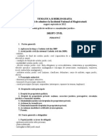 Tematica Admitere INM Aug 2012