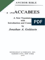 J. Goldstein - I Maccabees