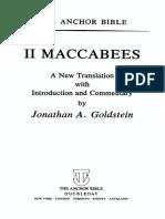J. Goldstein - II Maccabees