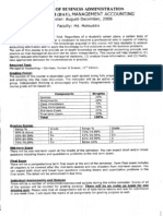 Management Accounting Course Outline