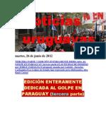 Noticias Uruguayas Martes 26 de Junio Del 2012