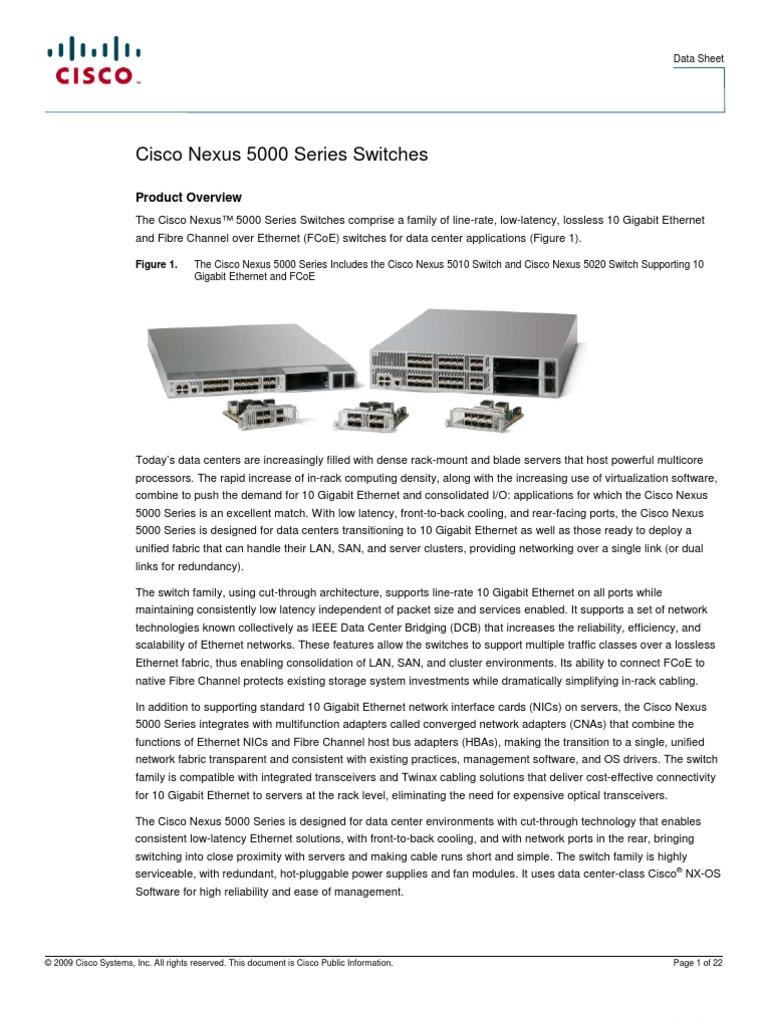 Cisco nexus 5548up switch video data sheet youtube.
