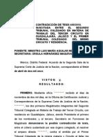 Resicion Laboral (Sentencia SCJN) Prescripsion Criterio