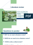 Literature review- How to go about it!