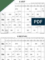 Jadual Waktu Kelas Mulai 26 Jun 2012