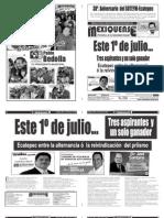 Versión impresa del periódico El mexiquense 26 junio 2012