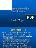 Linda Meyer - Moderation of the FSA - Best Practice