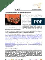Boletin de Prensa No. 1 - Ecuador celebrará el Dia Nacional de la Papa