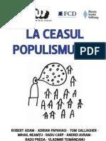 Suplimentul 22 FCD/HSS - LA CEASUL POPULISMULUI?, 26 iunie 2012