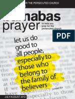 Prayer Diary July/August 2012