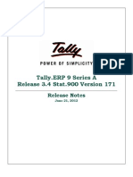 Release Notes for Stat900 Version 171