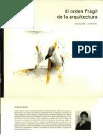 Arquithesis 9 - El orden frágil de la arquitectura - Joaquim Español