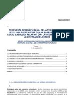 Propuesta Reforma Ley Bases-competencias Municipales