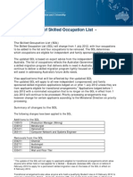 Eduaid- Skill Migration to Australia- Skilled Occupation List Update Effective From 1st July 2012