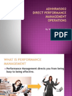 Performance Management Intro
