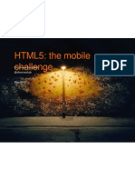 HTML5 & Mobile Apps