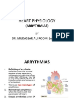 1st Lecture on Arrythmias by Dr. ROOMI