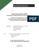 Reggie Bushie Inquest Report