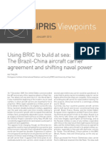 Using BRIC to Build at Sea-The Brazil-China Aircraft Carrier Agreement and Shifting Naval Power