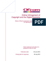 Online Infringement of Copyright and the Digital Economy Act 2010 Published June 26 2012