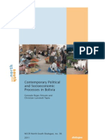 Contemporary Political and Socioeconomic Processes in Bolivia. Gonzalo Rojas Ortuste and Christian Lunstedt Tapia