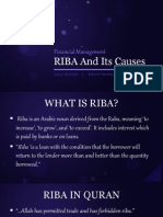 RIBA and Its Causes